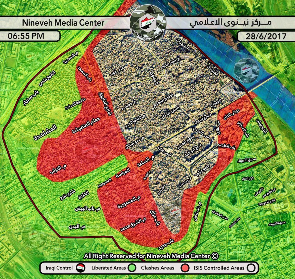 Iraqi Army Liberated 50% Of Key Old Mosul Area From ISIS