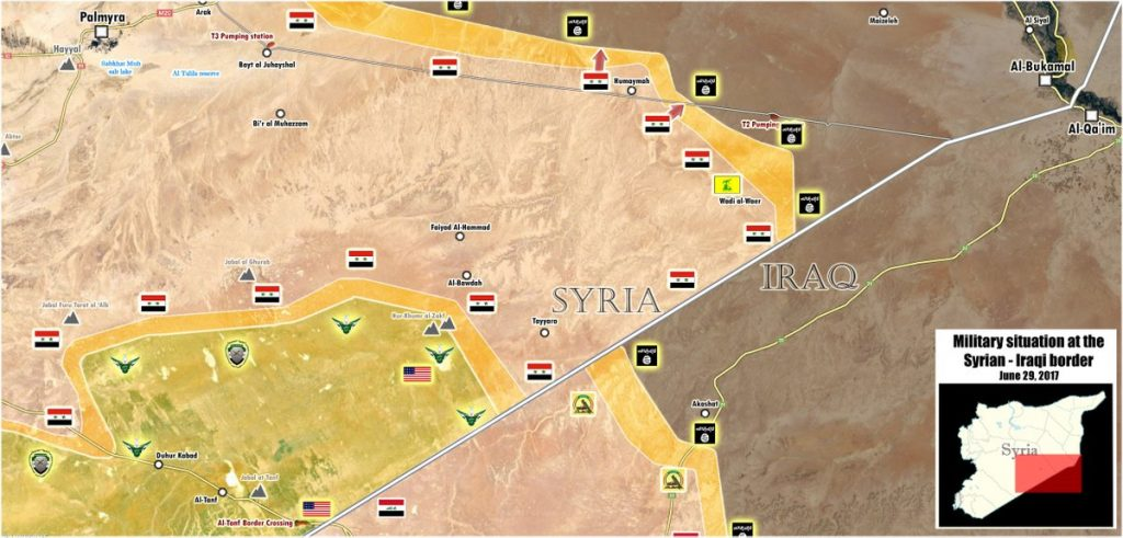 Government Forces Liberated Humaima From ISIS Near T2 Pumping Station