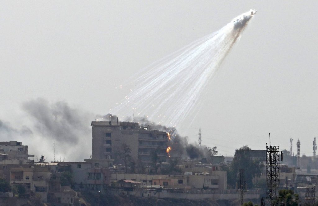 US-led Coalition Bombing Mosul With White Phosphorus (Video, Photos)