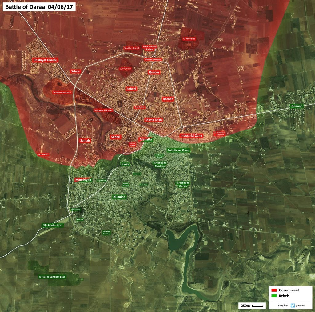 Map: Military Situation In City Of Daraa Piror To Expected Government Offensive