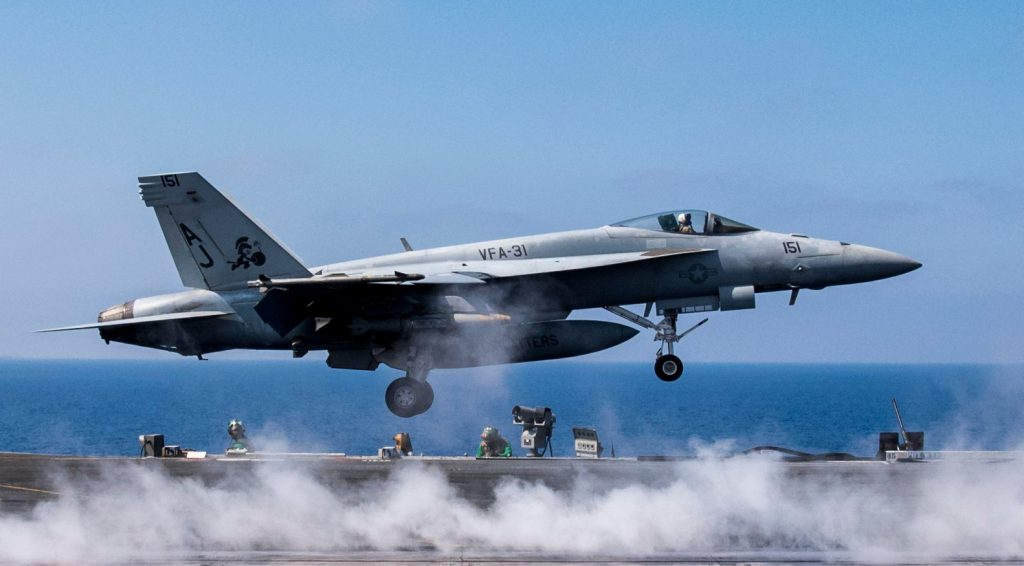 George H.W. Bush Carrier Strike Group Resumed Strike Missions From Eastern Mediterranean