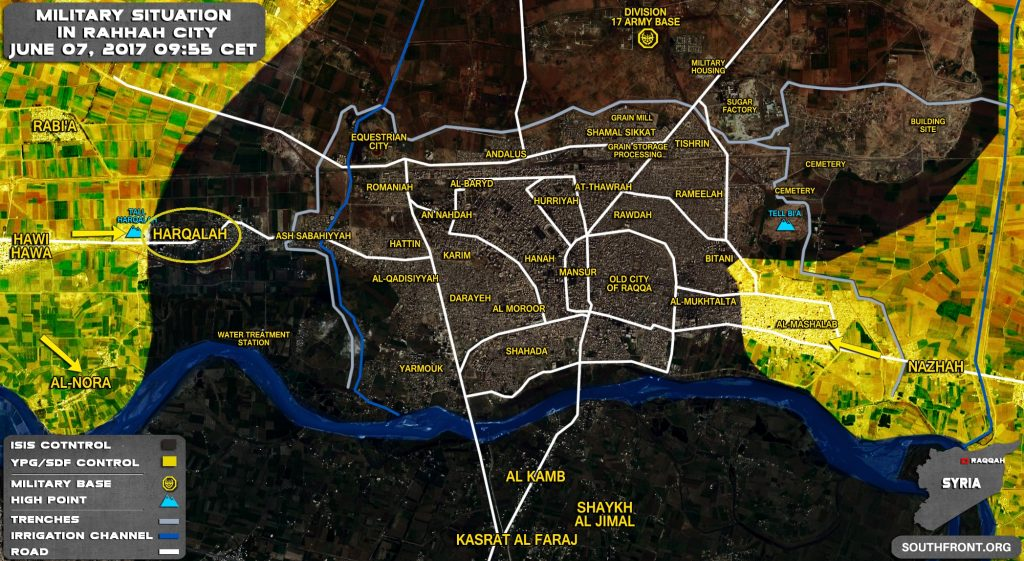 Syrian Democratic Forces Captures Harqalah Area In Western Raqqa (Video, Map)