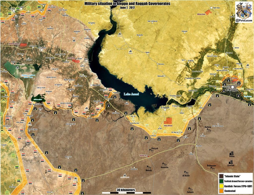 Military Situation In Aleppo-Raqqah Countryside On June 7, 2017 (Map Update)