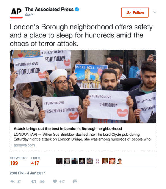 "FakeNews: CNN Stages Video With ""Anti-ISIS Muslim Protesters"" Following London Attack"