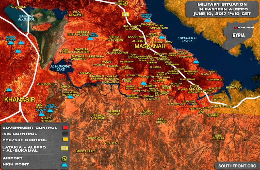 Syrian Army Further Pushes To Raqqah Province (Map)