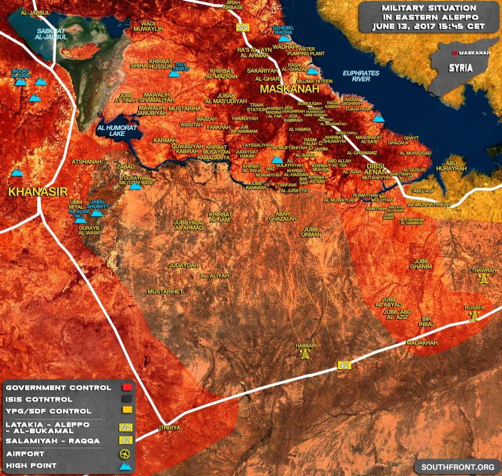 Military Situation In Provinces Of Raqqah And Aleppo After Recent Advances By Syrian Army
