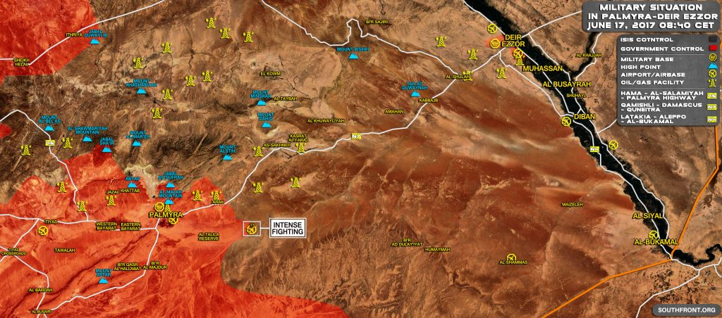 ISIS駅周辺のパルミラをポンピングT3でカウンター攻撃