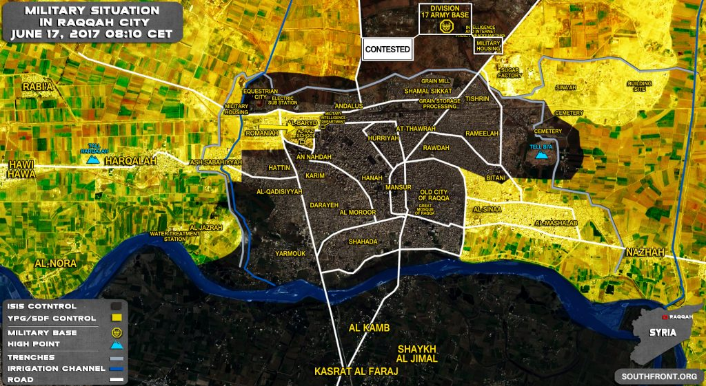 SDF Developing Momentum In Western Part Of Raqqah City (Map)