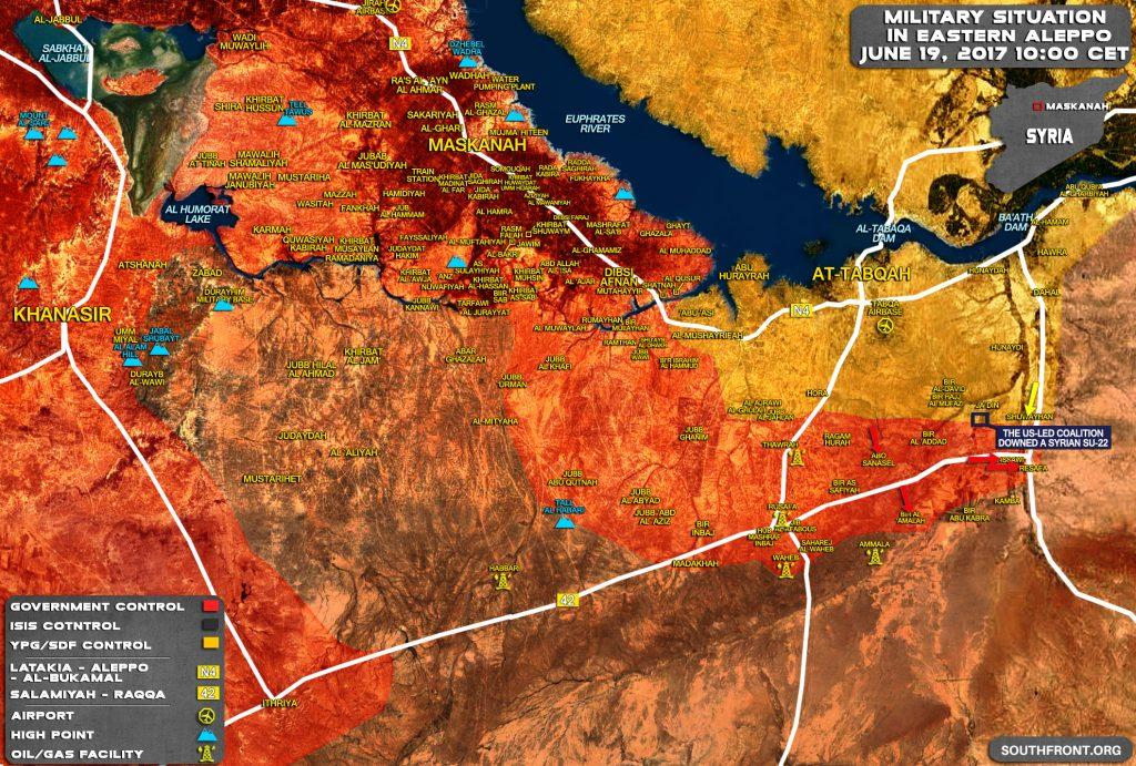Syrian Army Captures Strategic Crossroad Town Of Resafa In Raqqah Province (Map)