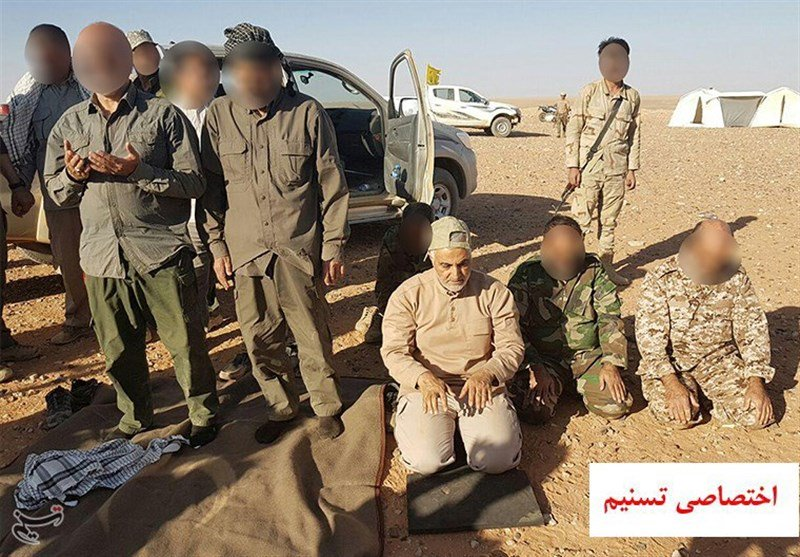 Iranian Islamic Revolutionary Guard Corps General, Hezbollah And Liwa Fatemiyoun Fighters At Syrian-Iraqi Border (Video, Photos, Map)