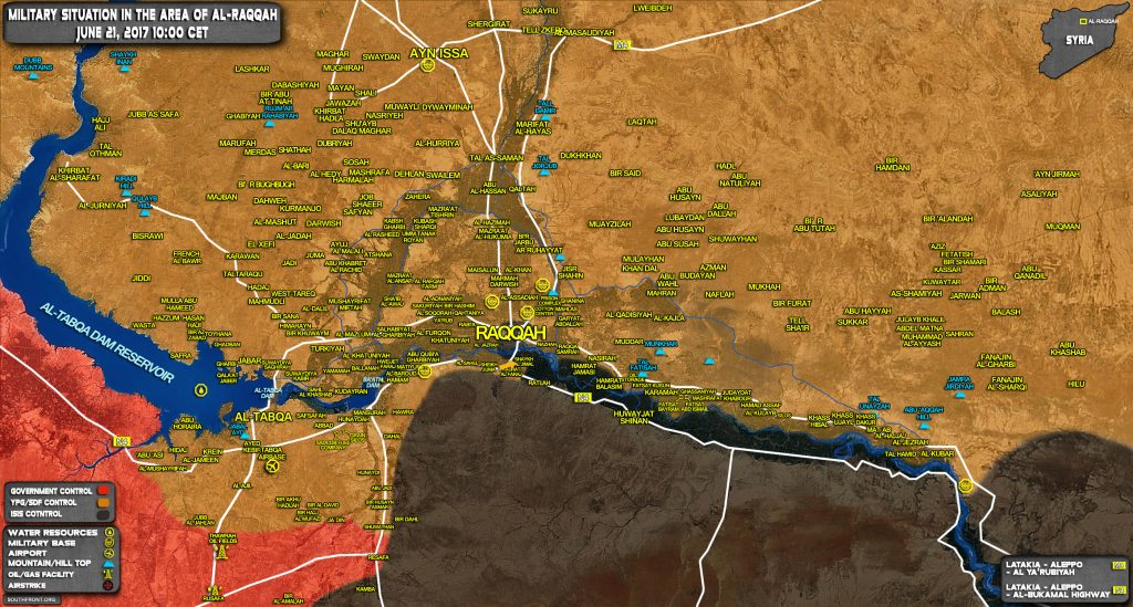 SDF Attempting To Encircle Raqqah From Southern Direction (Map)