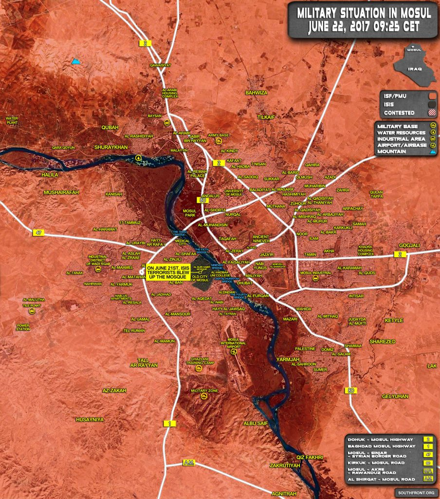Map Update: Iraqi Security Forces Storming Last ISIS Bastion In Mosul