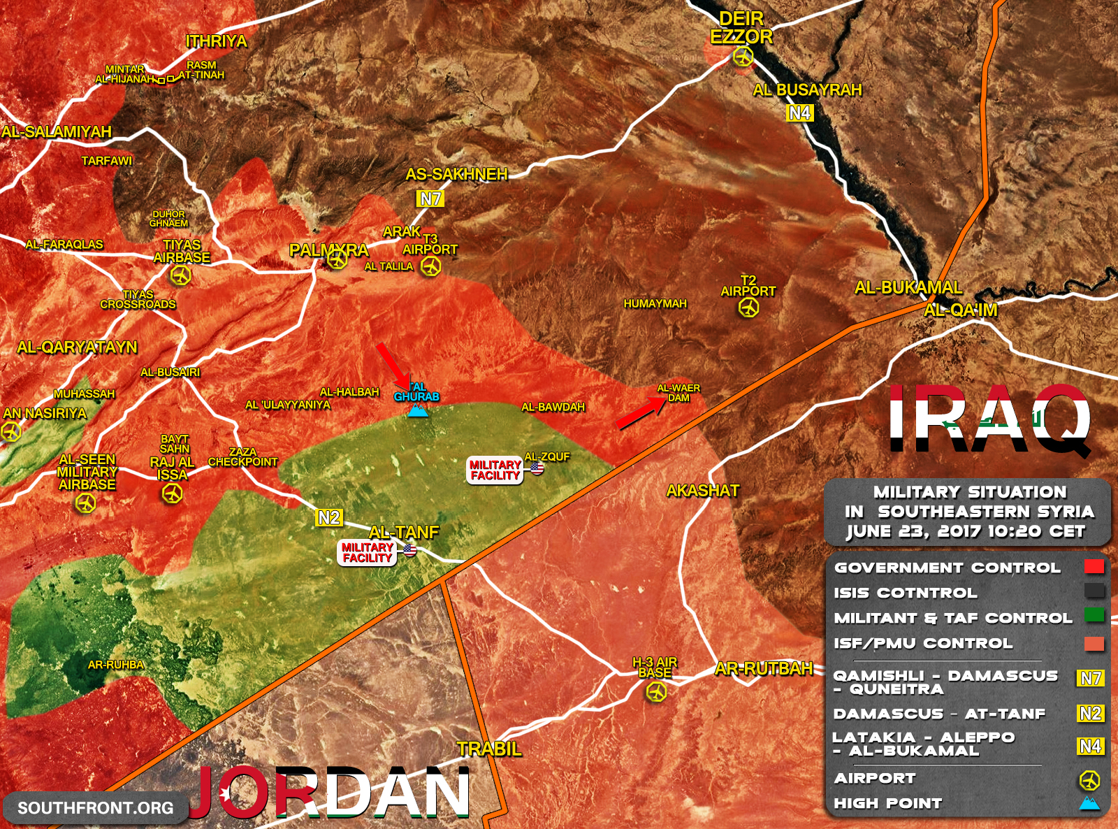 Government Forces Liberate Al-Waer Dam At Syrian-Iraqi Border (Map Update)