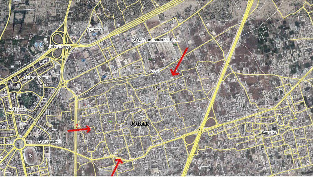 武装勢力が互いに裏切っていると非難したシリア軍は、東ダマスカスで前進する
