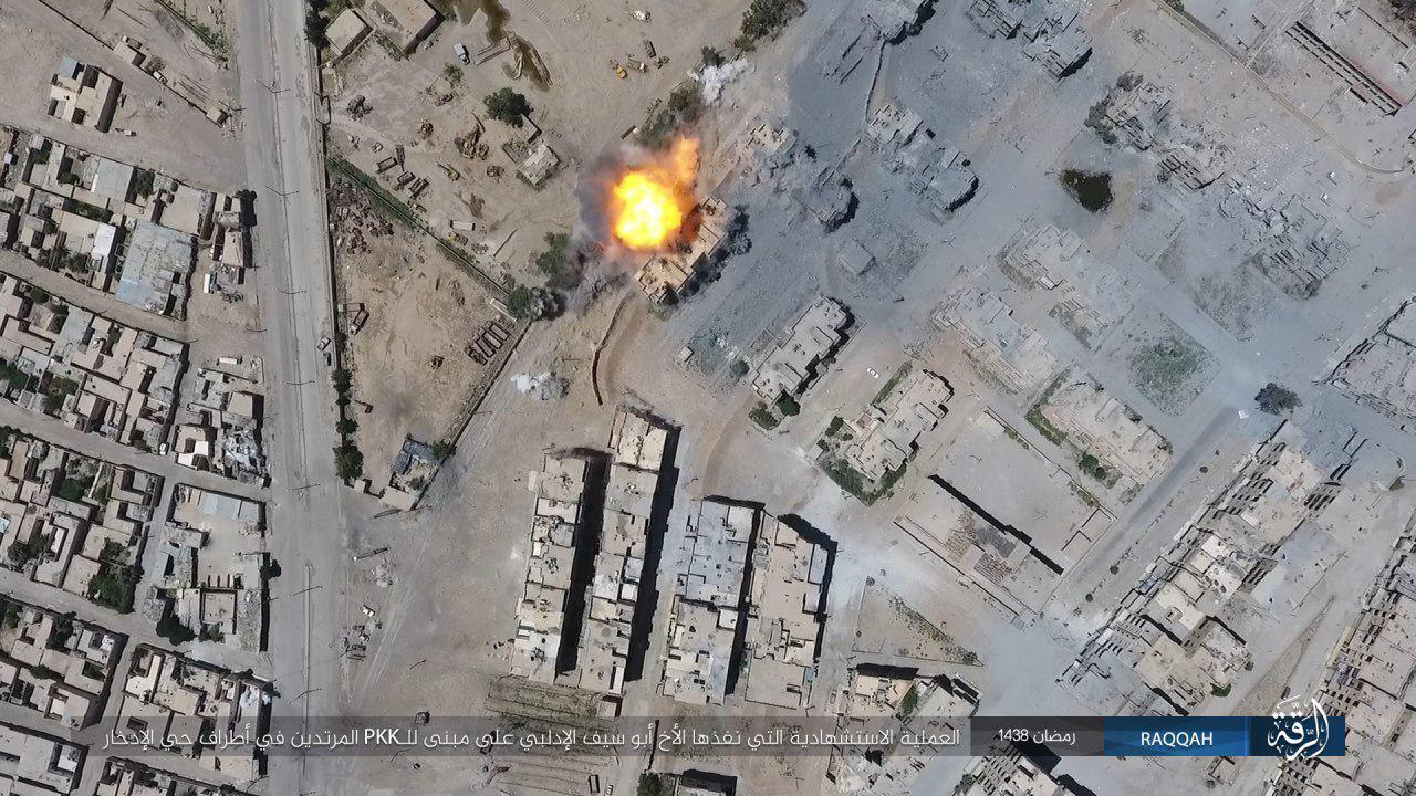 Three ISIS VBIED Attacks Against Syrian Democratic Forces in Raqqa (Photos)