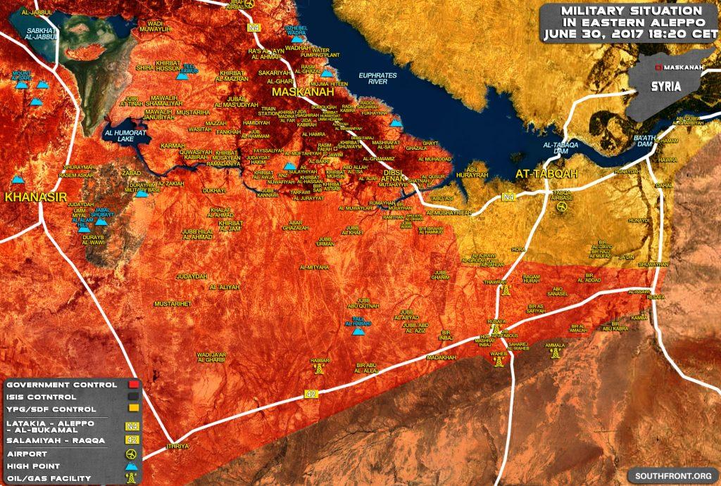 Syrian Army Liberates Entire Ithriyah-Resafa Road, Encircles ISIS Units East Of Khanasir