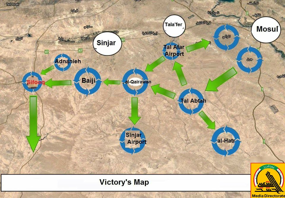 PMU Liberated 14000 km2, 360 Villages West Of Mosul Since September (Map, Photos)