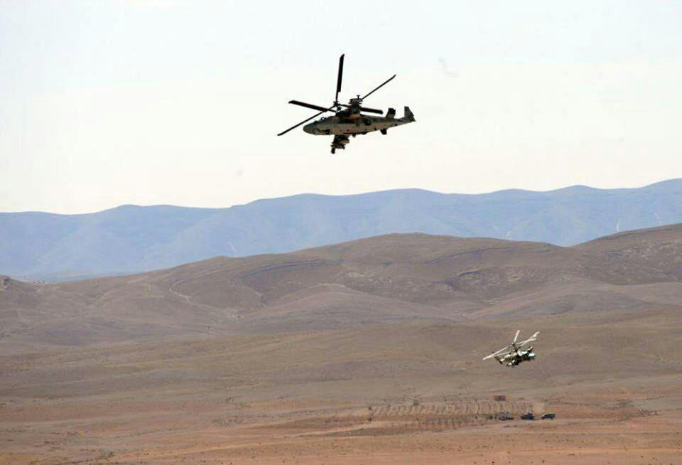 Photos: Russian Ka-52 Attack Helicopters Supporting Syrian Army In Homs Province