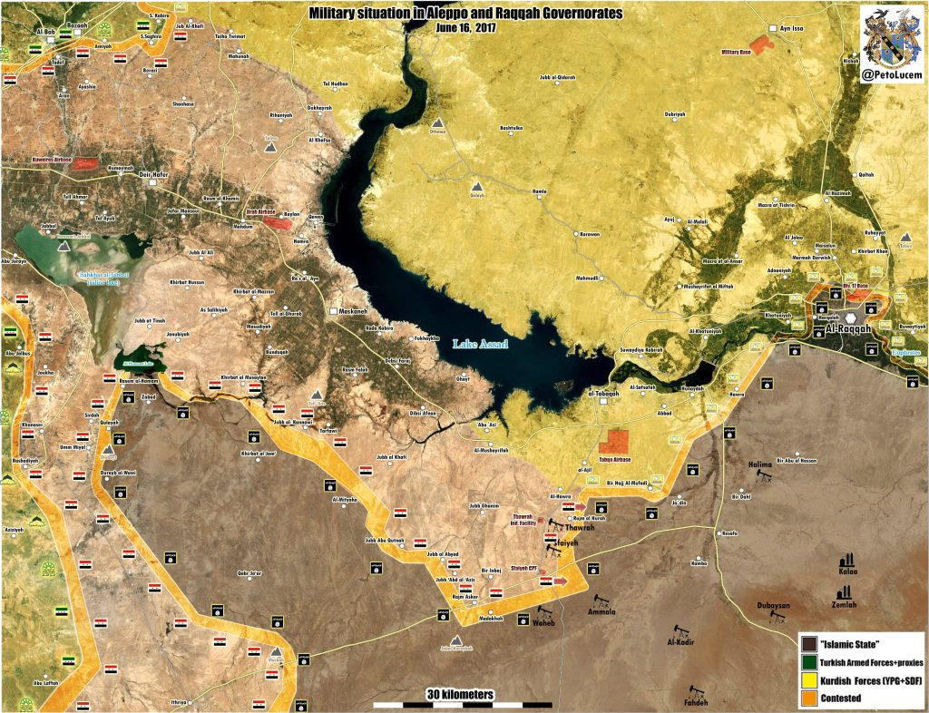 Government Forces Make Large Gains In Raqqah Province (Map)