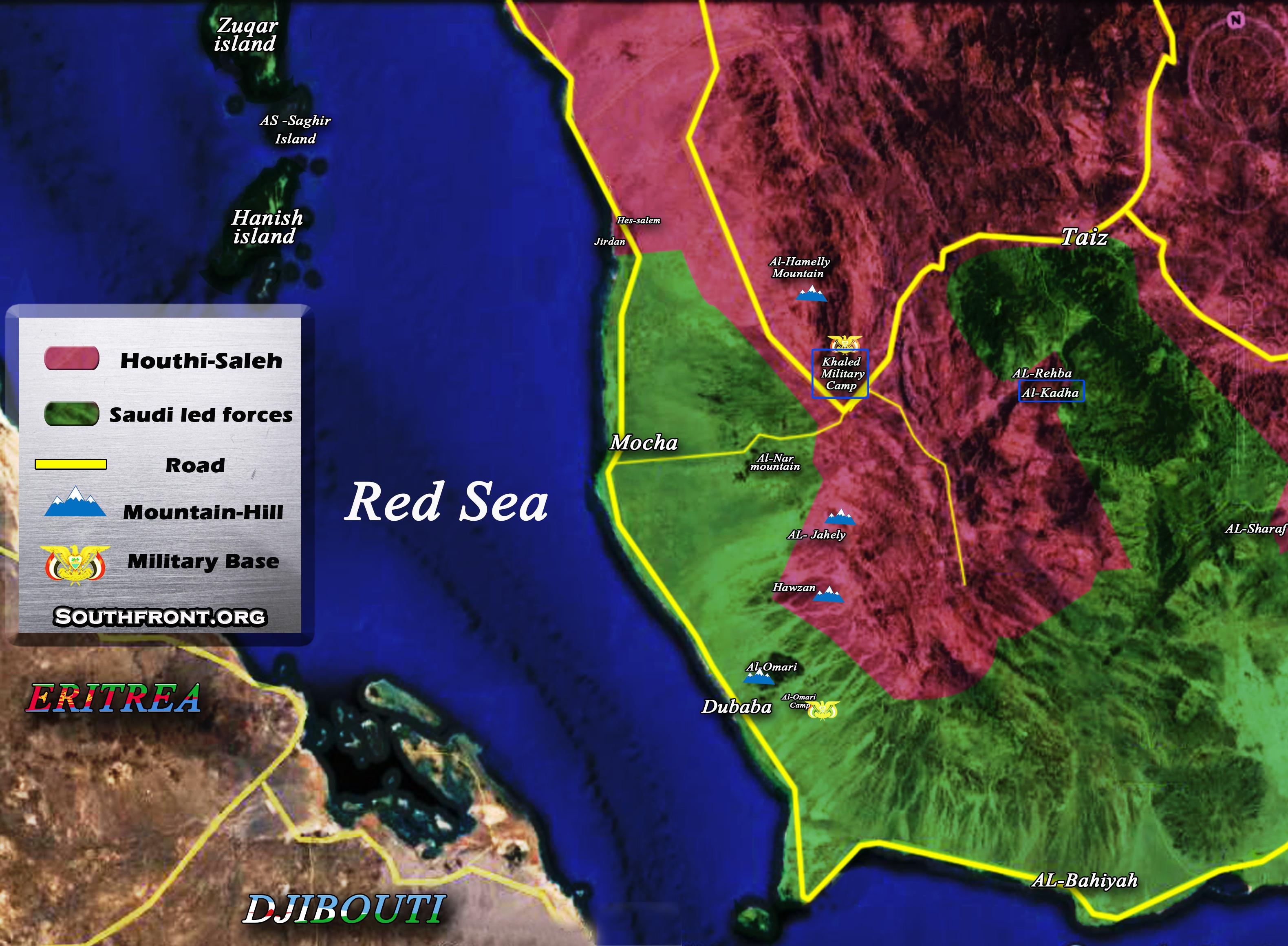 Military Situation In Moсha Area In Western Yemen (Map Update)