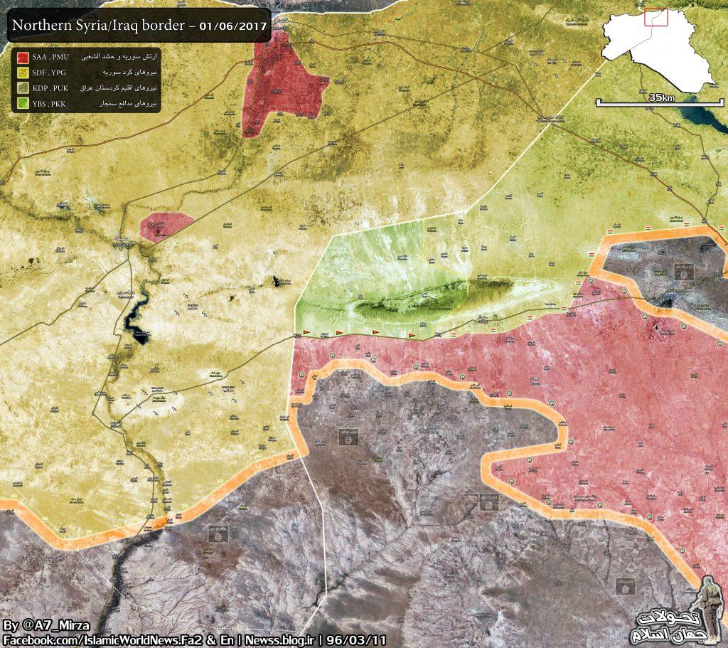 Popular Mobilization Units Advancing Along Iraqi-Syrian Border