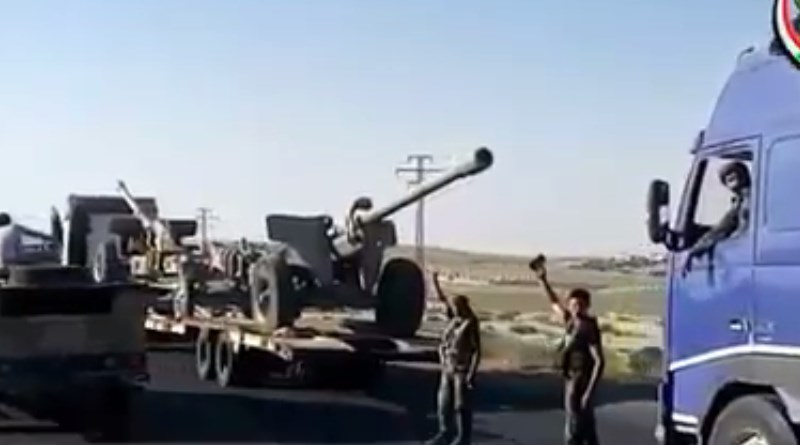 Syrian Military Deploys Large Reinforcements, Including Battle Tanks and Technicals, For Advance Against ISIS In Eastern Hama (Video)