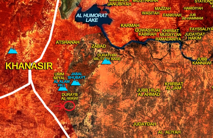 Pro-Government Forces Advancing In Imporant Mountain East Of Khanasir Road