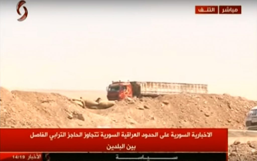 ビデオ:イラクとの国境に配備シリア軍。 第一の供給トラックパスボーダー
