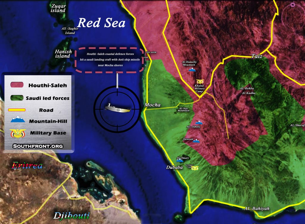 Map Update: Military Situation In Area Of Yemeni Port City Of Mocha