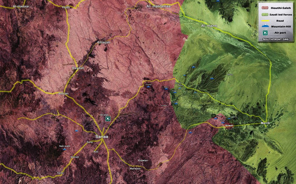 Saudi-led Forces Advancing East Of Yemeni Capital of Sanaa (Map Update)