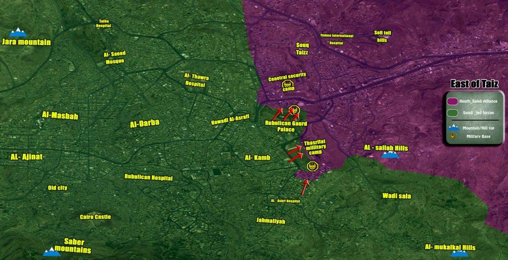 Map Update: Military Situation In Yemeni City Of Taiz