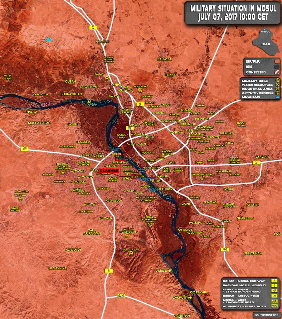 Iraqi Security Forces Are Close To Full Liberation Of Mosul From ISIS (Map Update)