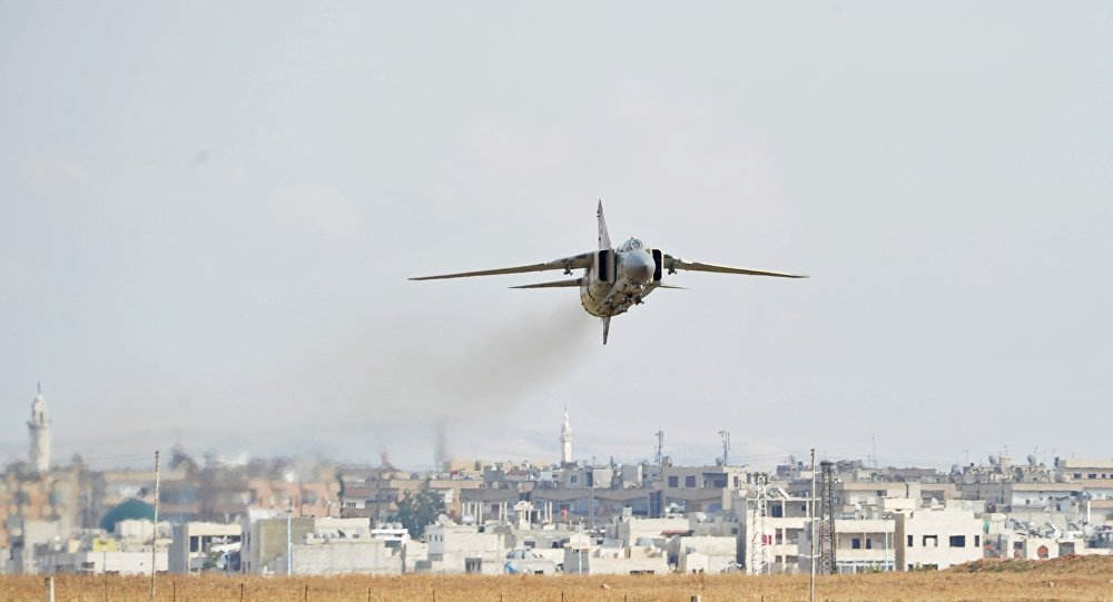 Free Syrian Army Claims Downing Of Syrian Warplane And Helicopter In Damascus Desert