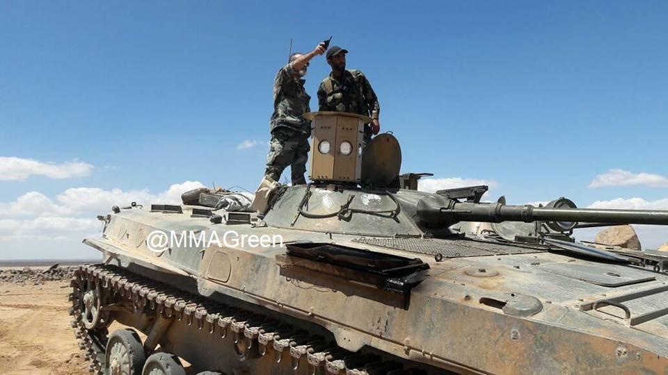 ダマスカス砂漠地域におけるシリア軍の閉鎖武装ポケット