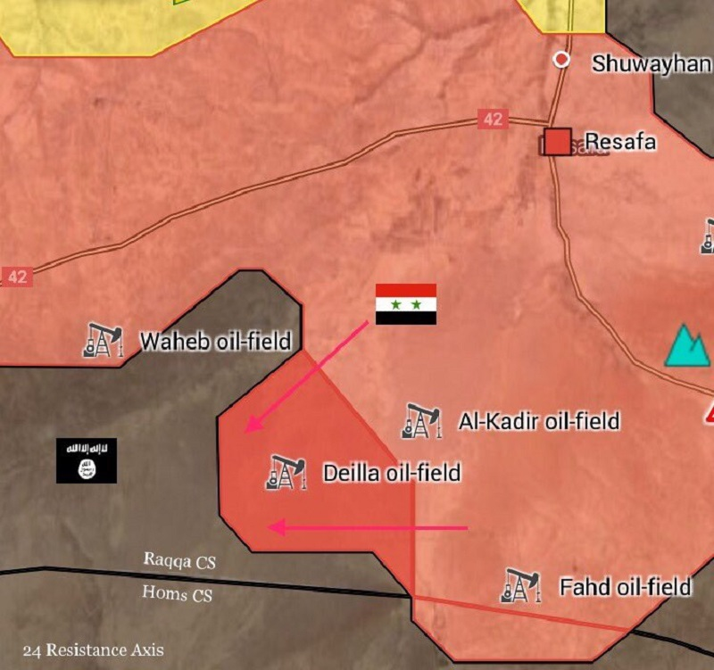 Tiger Forces, Allies Capture Another Oil Field In South of Resafa (Map)