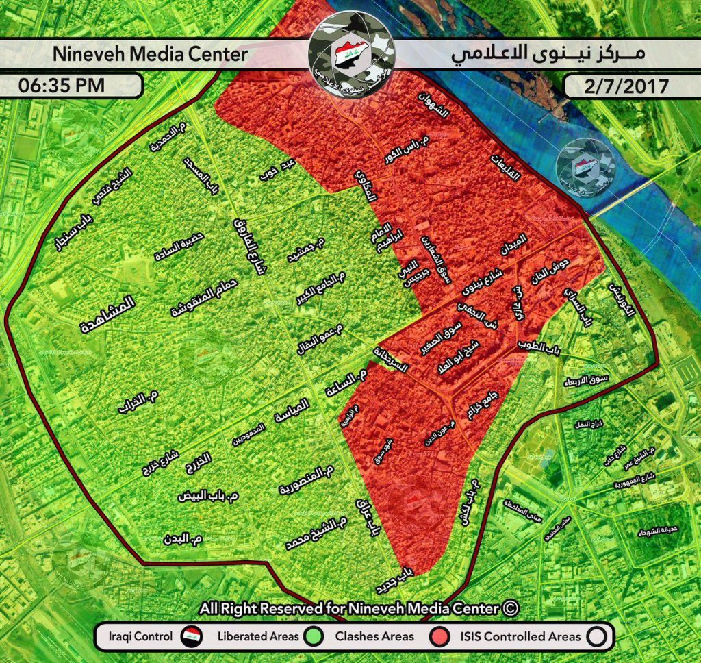 Iraqi Army Liberates Al-Makkawi District In Mosul, Expects To Declare Full Liberation Of City Within 48 Hours