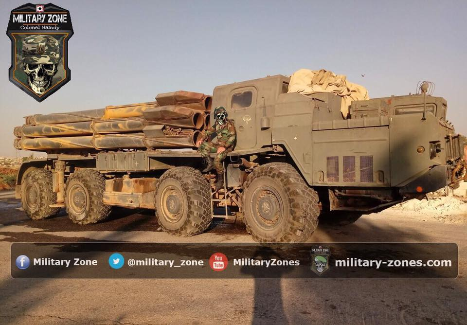 Russian-supplied 'Smerch' Heavy Multiple Launch Rocket Systems Support Government Advance Near Palmyra (Photos)