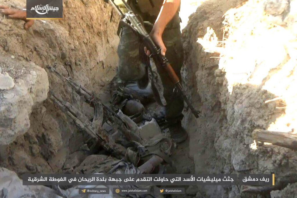 Jaysh al-Islam Repelled Syrian Army Attack In Eastern Ghouta. 30 Soldiers Allegedly Killed