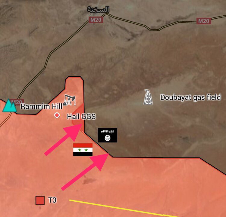 Government Forces Advancing On Douayat Gas Filed East Of Palmyra