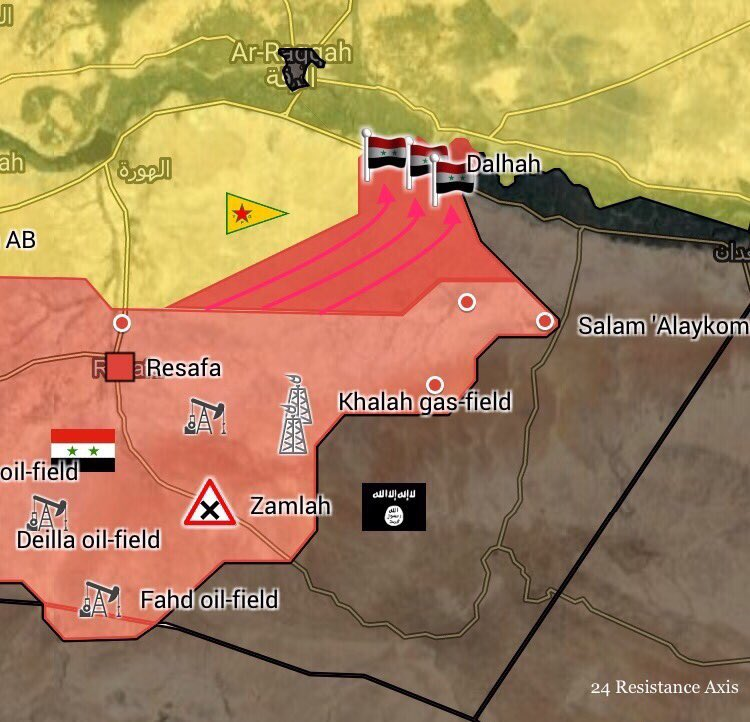 Tiger Forces, Tribal Forces Liberate Shinan Village In Southern Raqqah Countryside (Map)