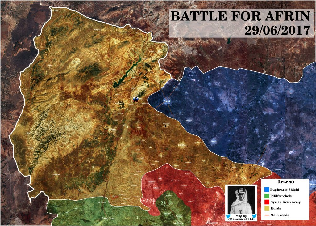Map Update: Military Situation In Afrin Area