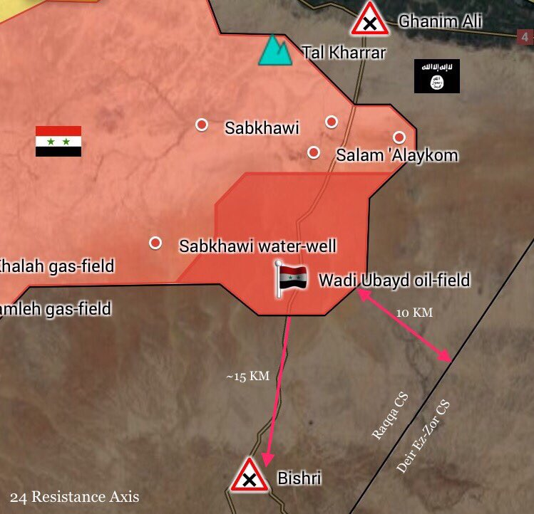 Syrian Army And Tribal Forces Push To Strategic Bishri Triangle In Southern Raqqah (Maps)