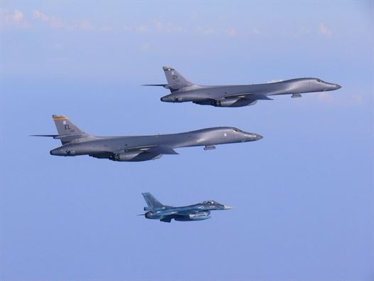 """In Show Of """"Lethal, Overwhelming Force"""" US Flies Two B-1B Bombers Over Korean Peninsula"""
