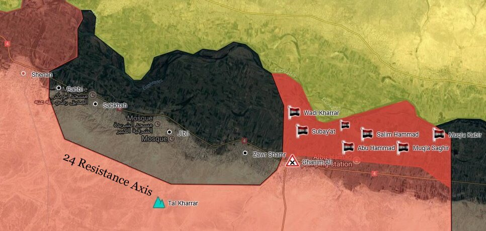 Government Forces Fully Encircled ISIS Terrorists In Sabkah Area (Map)