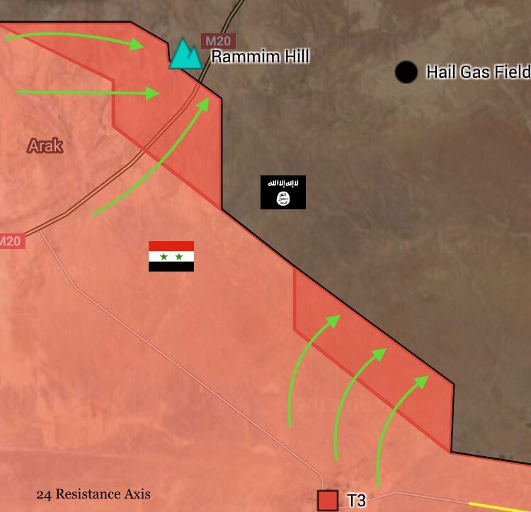 Government Forces Pressure ISIS Terrorists East Of Arak Gas Field In Eastern Homs
