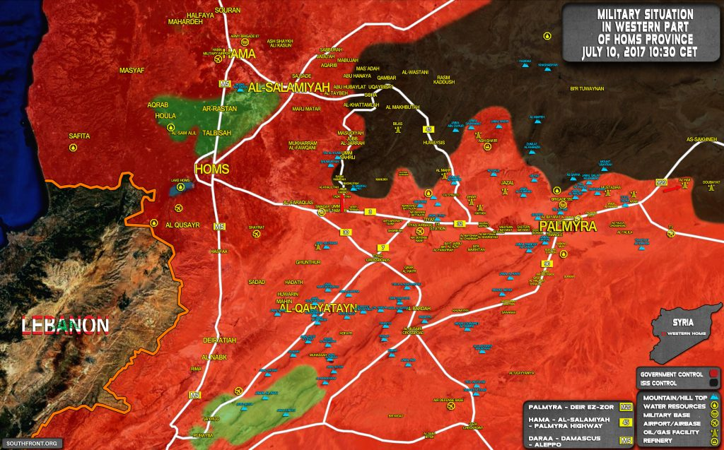 Syrian Army, Allies Prepare For Major Push Against ISIS Along Palmyra-Deir Ezzor Road