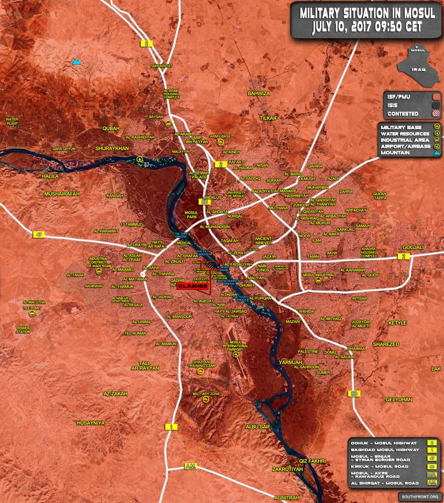 Iraqi Forces Are Close To Full Liberation Of Mosul City (Map Update)