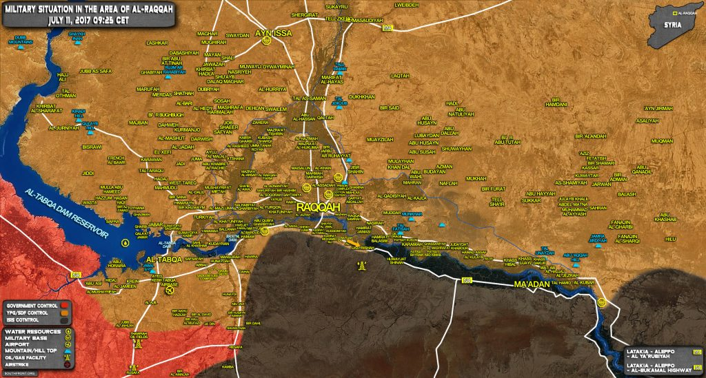 US-backed Forces Resume Advance In Southern Raqqah Countryside (Map Update)