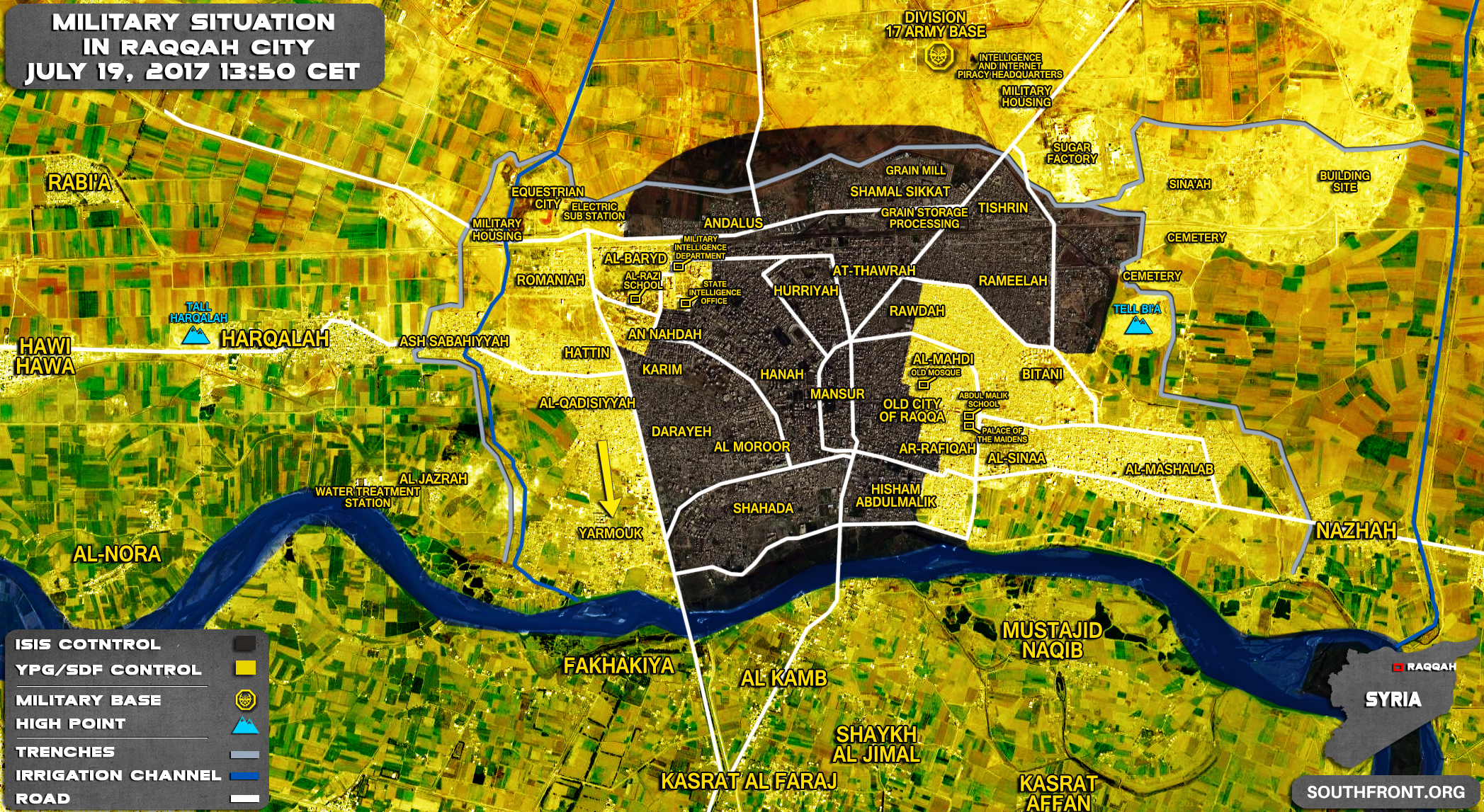 USbacked Forces Advance In Southern Part Of Raqqah City Destroy - Isis location map in us