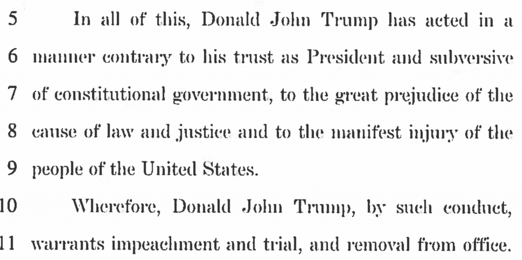 It's Official: Impeachment Resolution against President Donald J. Trump. H. RES. 438